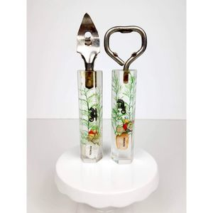 50s/60s Seashells Lucite Bottle and Can Opener